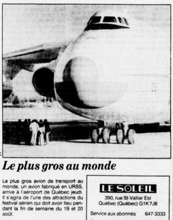 Journal Le Soleil16 août 1989