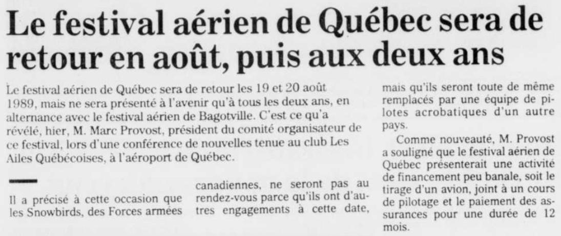 Journal Le Soleil 7 décembre 1988