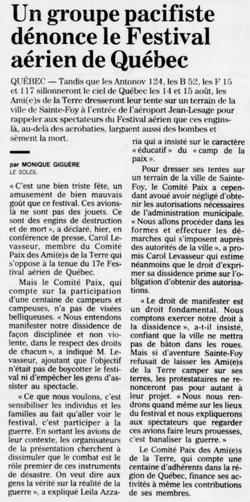 Journal Le Soleil 4 août 1993