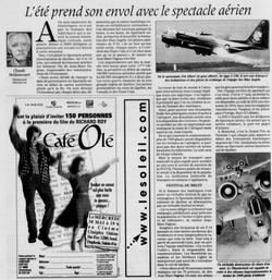 Journal Le Soleil 16 mai 2001