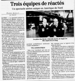 Journal Le Soleil 14 décembre 2000