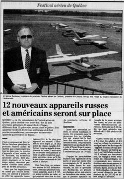 Journal Le Soleil 14 juillet 1993