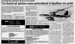 Journal Le Soleil 31 juillet 1991
