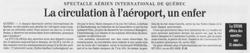 Journal Le Soleil 9 juin 2001