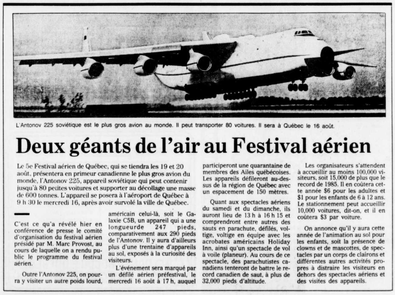 Journal Le Solel 9 août 1989