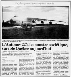 Journal Le Soleil 18 août 1989