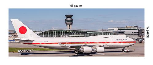 Méga Poster Japan Air Force Boeing 747-400 à YQB