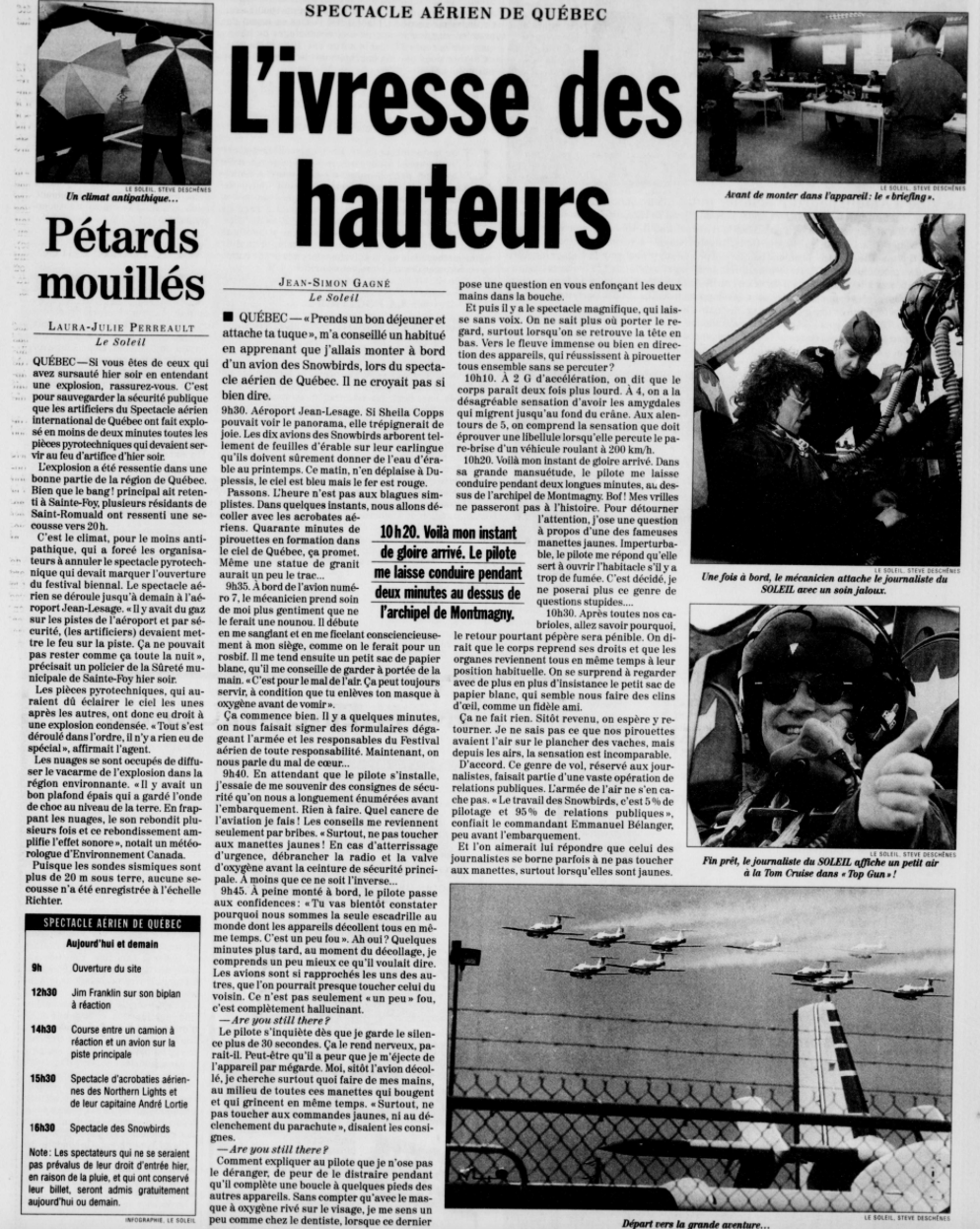 Journal Le Soleil 4 août 1999