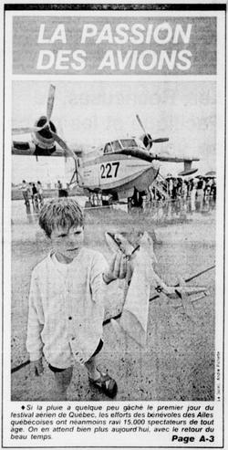 Journal Le Soleil 27 juillet 1986