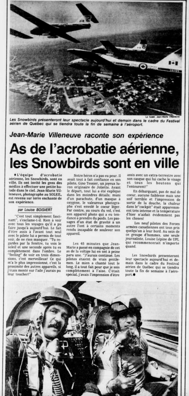 Journal Le Soleil 25 juillet 1986