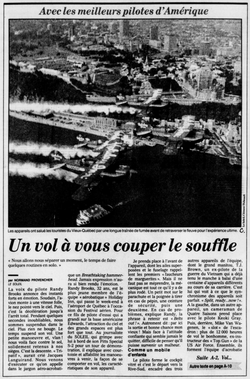 Journal Le Soleil 16 août 1991