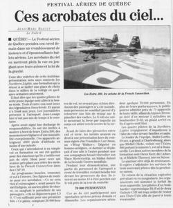 Journal Le Soleil 18 août 1995