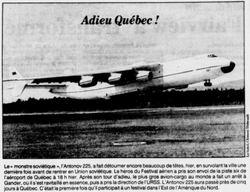 Journal Le Soleil 22 août 1989