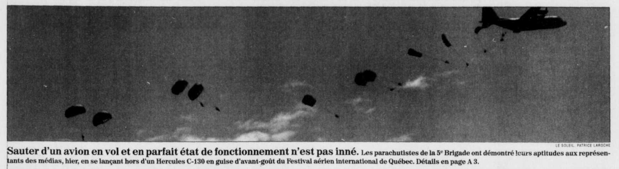 Journal Le Soleil 16 août 1997