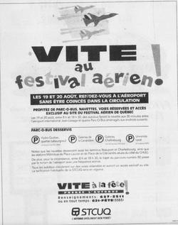 Journal Le Soleil 19 août 1995