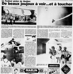 Journal Le Soleil 28 juillet 1986