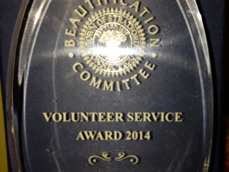 Beach Drive Park Winner of the Town of Stratford's 2014 Volunteer Garden of the Year Award