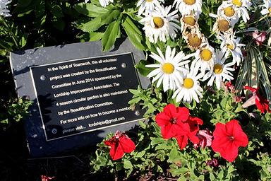 LIA Plaque at 4-Season Garden.JPG