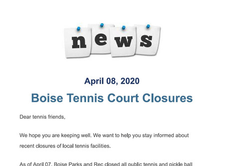 Parks & Rec Notice of Facility Closures