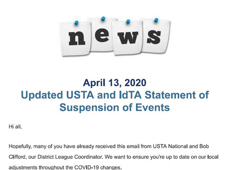 USTA Suspension of Events