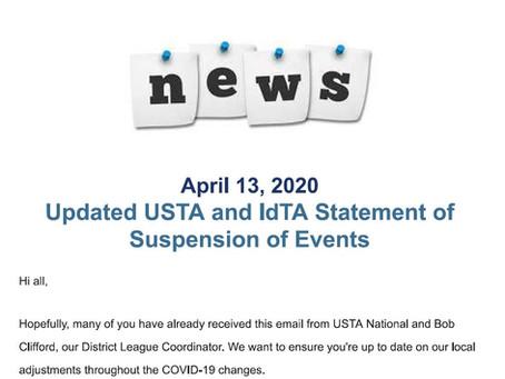 USTA Suspension of Events