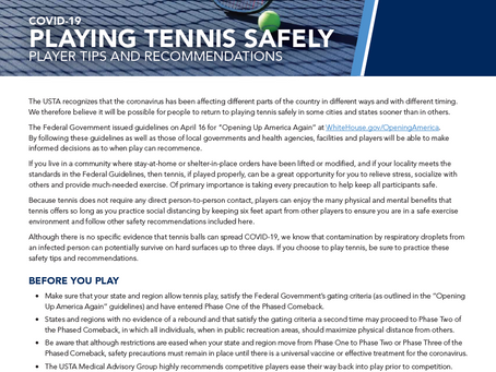 Playing Tennis Safely: Player Tips and Recommendations