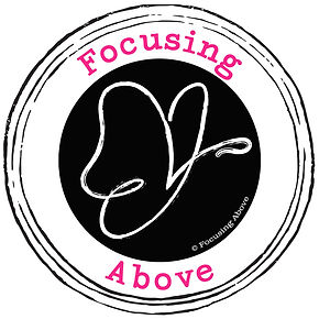 Revised Logo Design with Pink Text for Rachel Pynnonen's Focusing Above Business
