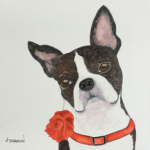 Pup Portrait Studio | Watercolor by Judy Thompson