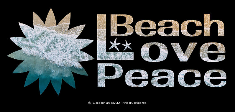 """Beach Love Peace Fancy Text Created """"Just for Fun"""""""