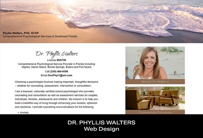 Coconut BAM Productions | Portfolio | Dr Phyllis Walters | Web Design