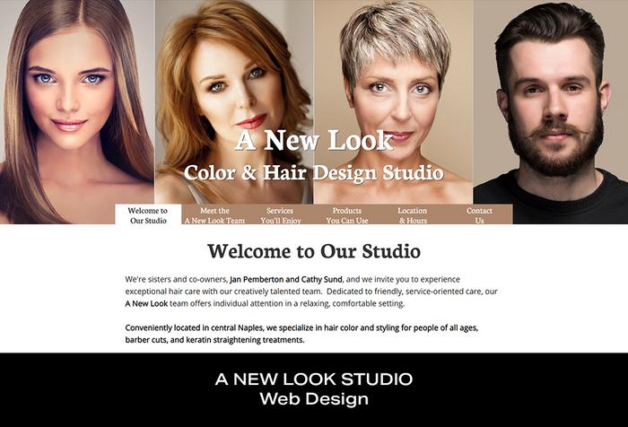 Coconut BAM Productions | Portfolio | A New Look | Web Design