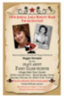 Invitation for Lori Legan's 14th Annual LoLo Bash fundraising event, front cover.  Click image to enlarge picture.