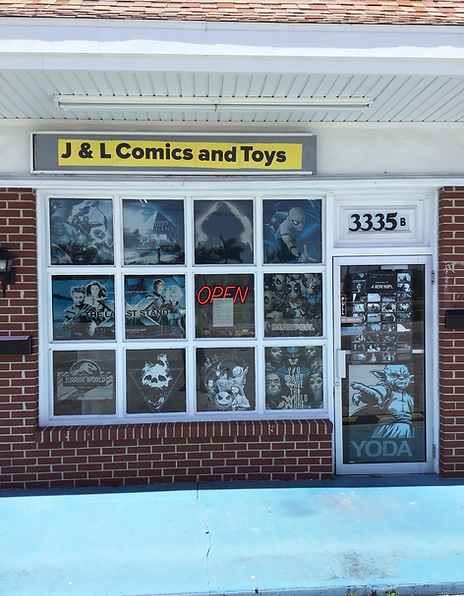Locate J&L Comics and Toys in Port Charlotte Via the Yellow and Black Sign