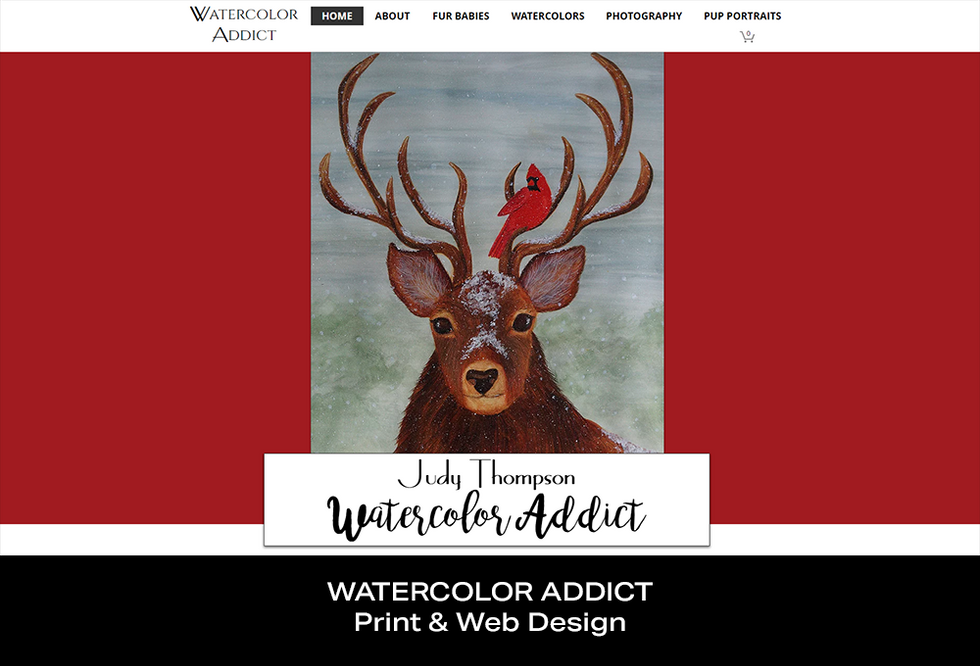 Coconut BAM Productions | Portfolio | Watercolor Addict | Print and Web Designs