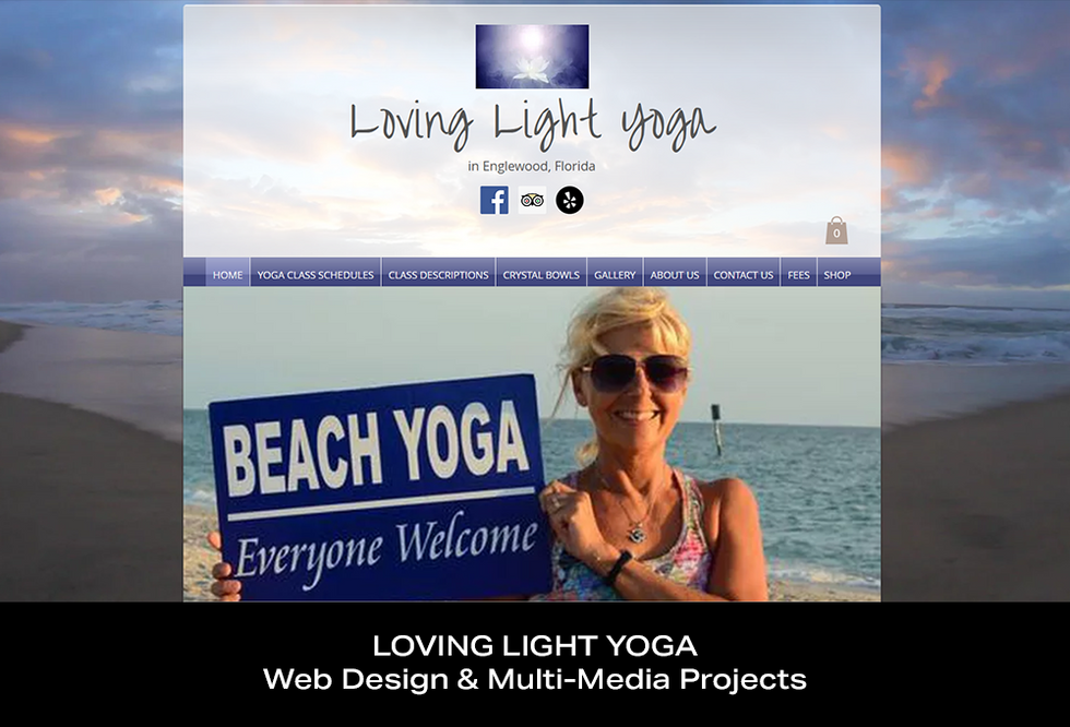 Coconut BAM Productions | Portfolio | Loving Light Yoga | Web Design and Multi-Media