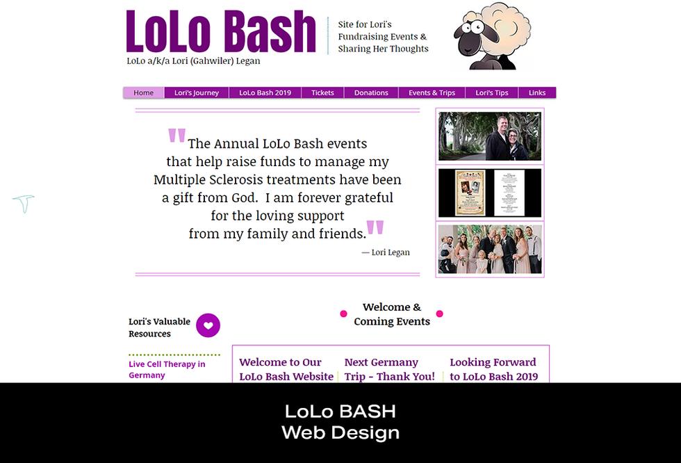 Coconut BAM Productions | Portfolio | LoLo Bash | Web Designs