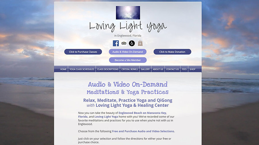 Audio and Video On-Demand for Loving Light Yoga website.  Click on image to visit the site.