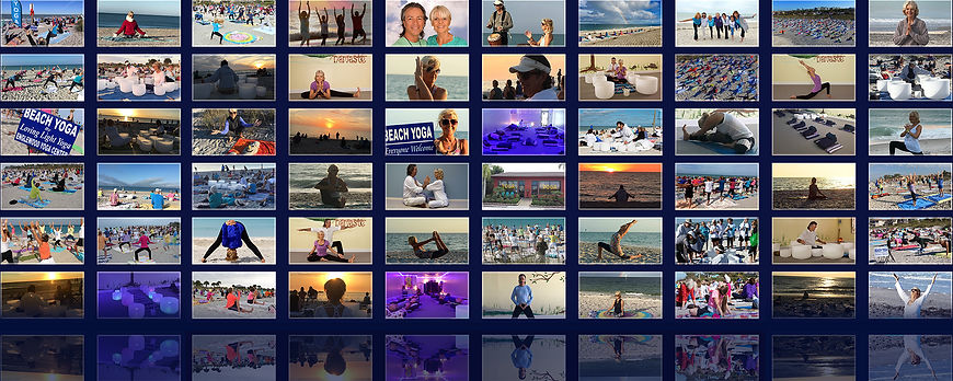 Mosaic Photo Wall Created for Lata and Robert of Loving Light Yoga