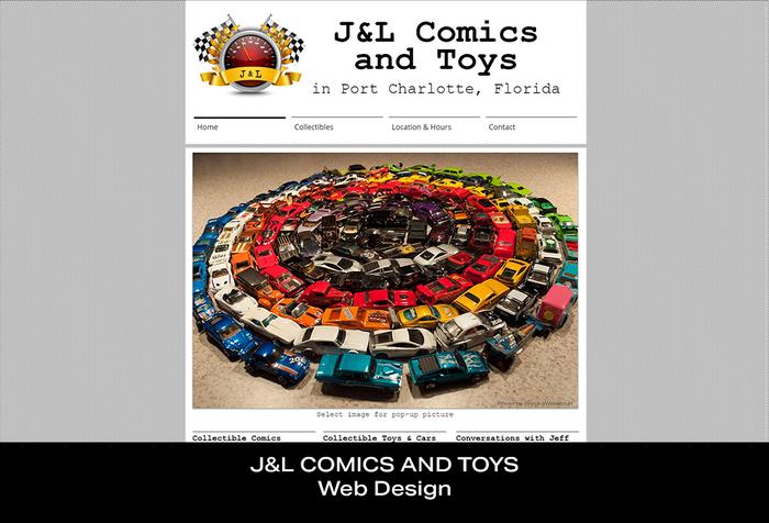 Coconut BAM Productions | Portfolio | J&L Comics and Toys | Web Design