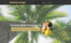 Home page of Beth A. Maxwell's first Coconut BAM Productions site.  Click image to enlarge picture.