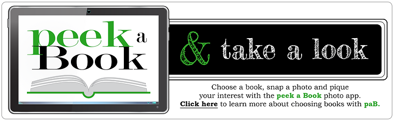 Beth A. Maxwell's Web and Graphic Design Portfolio – Logo Design Student Project – peekaBook App Logo.  Click on image to enlarge picture.