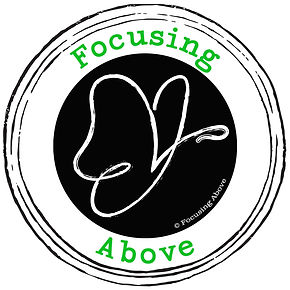 Revised Logo Design with Green Text for Rachel Pynnonen's Focusing Above Business