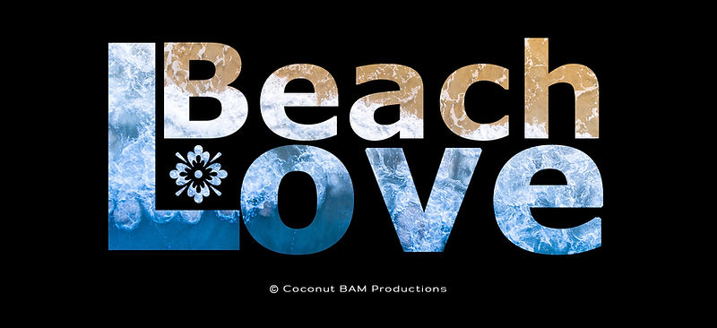 """Beach Love Fancy Text Created """"Just for Fun"""""""