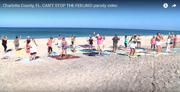 """Englewood Beach Yogis accept Justin Timberlake's Dance Challenge """"Can't Stop the Feeling"""" in Charlotte County, Florida"""