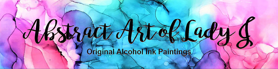 Etsy Shop banner design using Photoshop for Judy Thompson's Abstract Art of Lady J Collection.