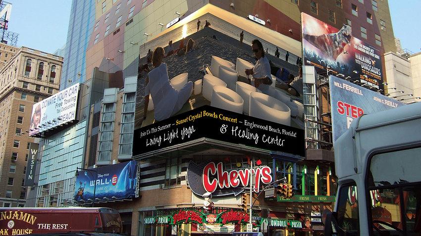 Corner Billboard Created for Lata and Robert of Loving Light Yoga
