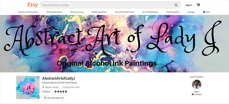 Abstract Art of Lady J Etsy Shop Banner   Client's Original Design