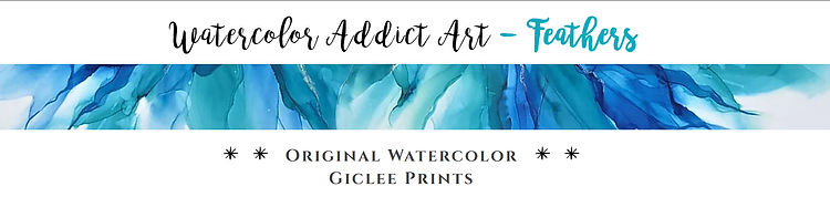 """Watercolor Addict Website Page Banner 