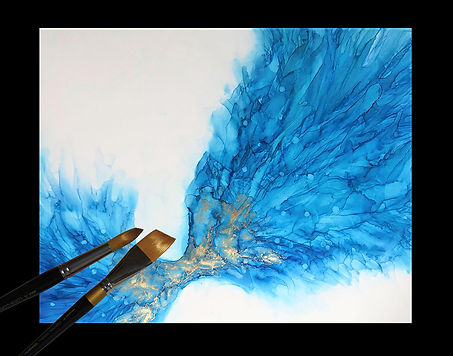 """Watercolor Addict Website Page Bottom Design 