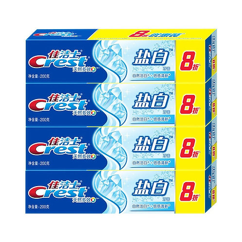 Crest toothpaste crystal white